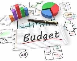 مقدار بودجه در نظر گرفته شده